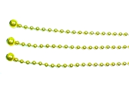"""Vintage Art Deco Ceiling Light Glass Shade Bead Chains 3 Brass 12"""" w/ 1/... - $10.95"""