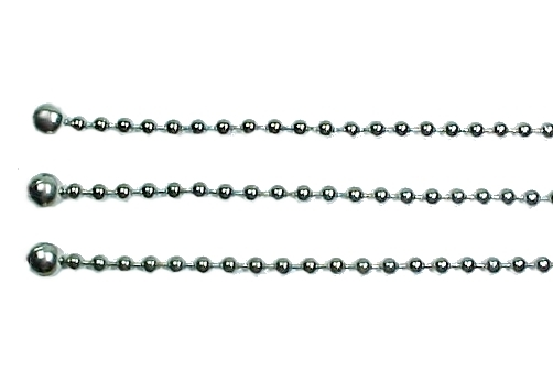 3 Bead Ball Chain for Ceiling Glass Light Fixture Shade Nickel