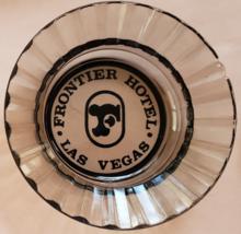 "Frontier Hotel Las Vegas 4-1/2"" x 1"" tall  Smoke Ribbed-rim Round Glass Ashtray - $9.95"
