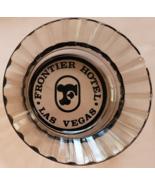 "Frontier Hotel Las Vegas 4-1/2"" x 1"" tall  Smoke Ribbed-rim Round Glass ... - $9.95"