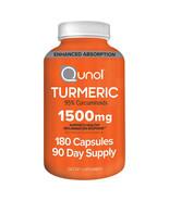 NEW Qunol Turmeric 1,500 mg., 180 Capsules **FREE SHIPPING** - $45.99