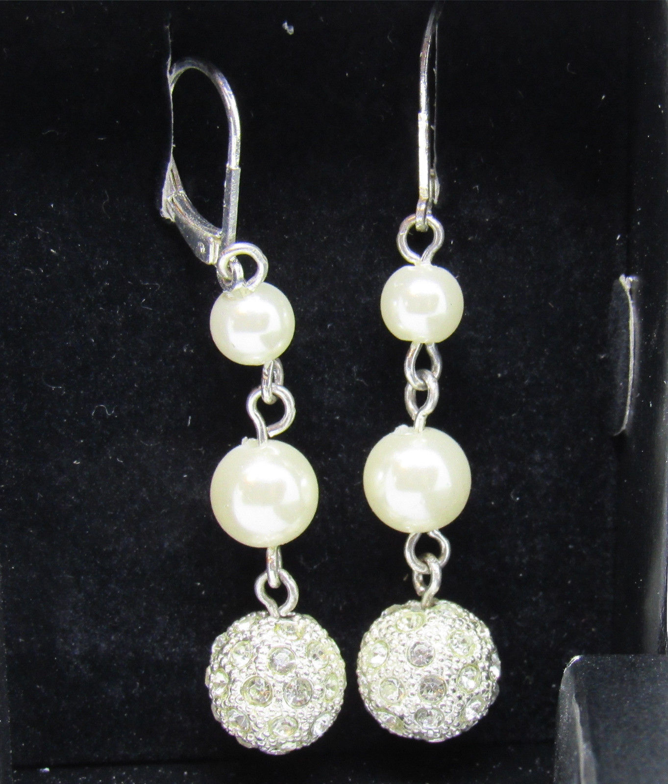 Avon 2011 President's Club Pearlesque Earrings Dangle Leverback image 2