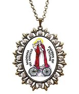 "Madonna Del Ghisallo Patron of Cycling Huge 2 1/2"" Antique Bronze Gold M... - $24.95"