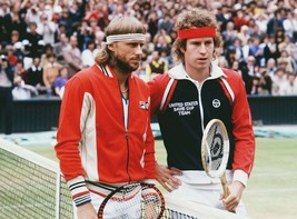 Bjorn Borg John McEnroe 124ME Vintage 22X28 Color Tennis Memorabilia Photo - $37.95