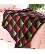 Z214 Crochet PATTERN ONLY Shadow Play Throw Afghan Pattern - $7.50