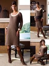 Z137 Crochet PATTERN ONLY Dawn 'Til Dusk Sweater Dress Pattern Sized to 3X - $7.50
