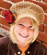 Z162 Crochet Pattern Only Girl's Newsboy Hat Pattern - $7.50