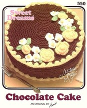 X748 Crochet PATTERN ONLY Annie's Attic Sweet Dreams Chocolate Cake Black & - $10.50