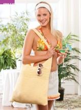 Z228 Crochet PATTERN ONLY Ruffled Miniskirt & Beach Bag Pattern - $7.50