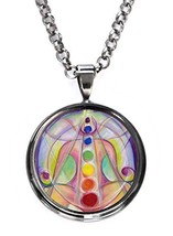 Divine Love Lotus Gunmetal Pendant with Chain Necklace [Jewelry] - $14.95