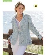 Z105 Crochet PATTERN ONLY Trade Winds Jacket Pattern Sized to 2X - $7.45