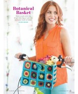 Z038 Crochet PATTERN ONLY Botanical Basket for Bike or Home Pattern - $6.45