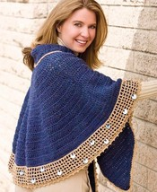 Z215 Crochet PATTERN ONLY Unique Style Unusual Wrap Shawl Pattern - $7.50
