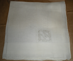 "Men's Handkerchief - White with the Initial  ""M""  - $1.95"