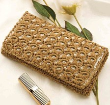 Z091 Crochet PATTERN ONLY Backed Broomstick Clutch Purse Pattern - $7.50