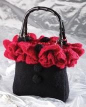 Z156 Crochet PATTERN ONLY Felted Scarlet Ruffles Purse Pattern - $7.50