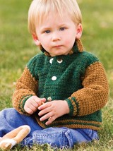 Z109 Crochet PATTERN ONLY Letterman's Baby Jacket Pattern - $8.50