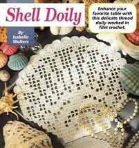 Z062 Filet Crochet PATTERN ONLY Seashell Shell Doily Pattern - $8.50