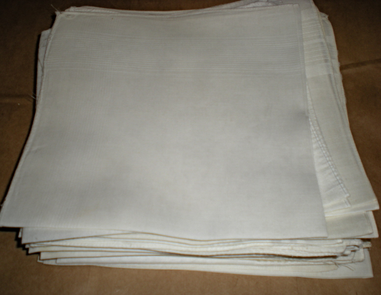 Men's Handkerchief Plain White 16 inch square