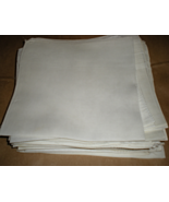Men's Handkerchief Plain White 16 inch square - $1.90