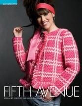 Z089 Crochet PATTERN ONLY Fifth Avenue Fringed Plaid Jacket Pattern - $7.50