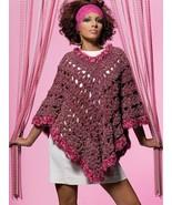 Z059 Crochet PATTERN ONLY Free Spirit Poncho Pattern - $7.50