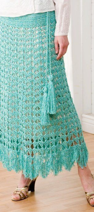 Primary image for Z166 Crochet PATTERN ONLY Feminine Fringed Shell Skirt Pattern Sized to 4X