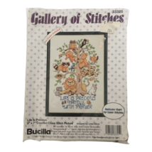 Bucilla Gallery of Stitches Counted Cross Stitch Kit Life is Precious Prayer - $9.99