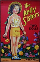 VINTAGE UNCUT 1944 THE KELLY SISTERS PAPER DOLLS~#1 REPRODUCTION~RARE/NO... - $19.49