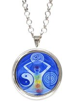 Universal Healing Manifestation Symbols Silver Pendant with Chain Necklace - $14.95