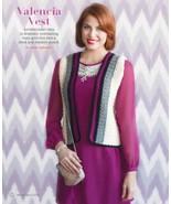 Z043 Crochet PATTERN ONLY Valencia Vest Pattern Plus Sizes - $7.50