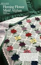 X942 Crochet PATTERN ONLY Fleming Flower Motif Afghan Throw Pattern - $7.50