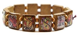 Music Lovers Brown Wood Stretch Bracelet [Jewelry] - $14.95