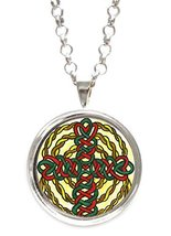 Celtic Knot Cross Silver Pendant with Chain Necklace [Jewelry] - $14.95