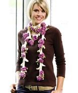 Z175 Crochet PATTERN ONLY Flower Vine Scarf Pattern - $8.50