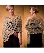 Z113 Crochet PATTERN ONLY Garland Stole Wrap Shawl Pattern - $8.50