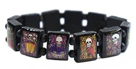 Music Skulls Black Wood Stretch Bracelet [Jewelry] - $14.95