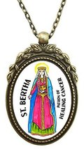 "St Bertha Patron of Healing Cancer Huge 2"" Anti... - $19.95"