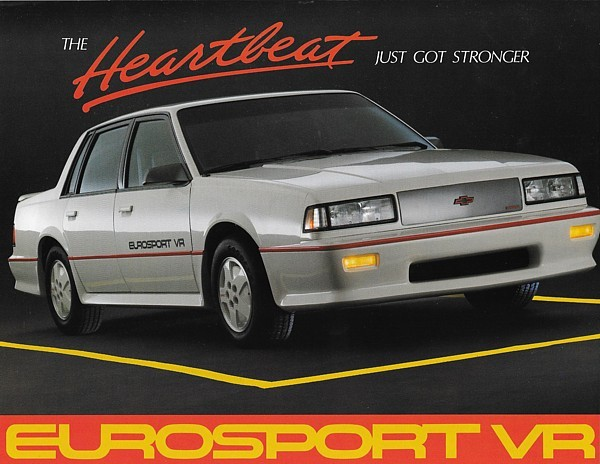 1987 Chevrolet Celebrity EUROSPORT VR sales brochure sheet 87 Chevy