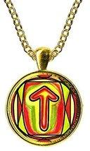 Rune Tiwaz for Honor, Justice, Leadership Handmade Gold Pendant [Jewelry] - $14.95