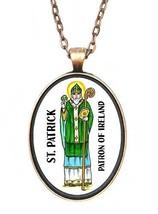 St Patrick Patron of Ireland Huge 30x40mm Antique Copper Pendant [Jewelry] - $14.95