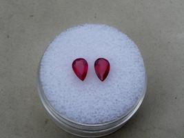Ruby pear loose gem pair 6x4mm each - $19.99