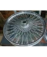 spoke wheel & hub for custom harley davidson as is dent - $125.00