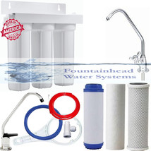 Fountainhead 3 Stage Filter System Sediment/Gac/Carbon Block. Choice Of Faucets! - $80.34