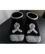 Brain Cancer Awareness Footies/Socks (Black & G... - $20.00