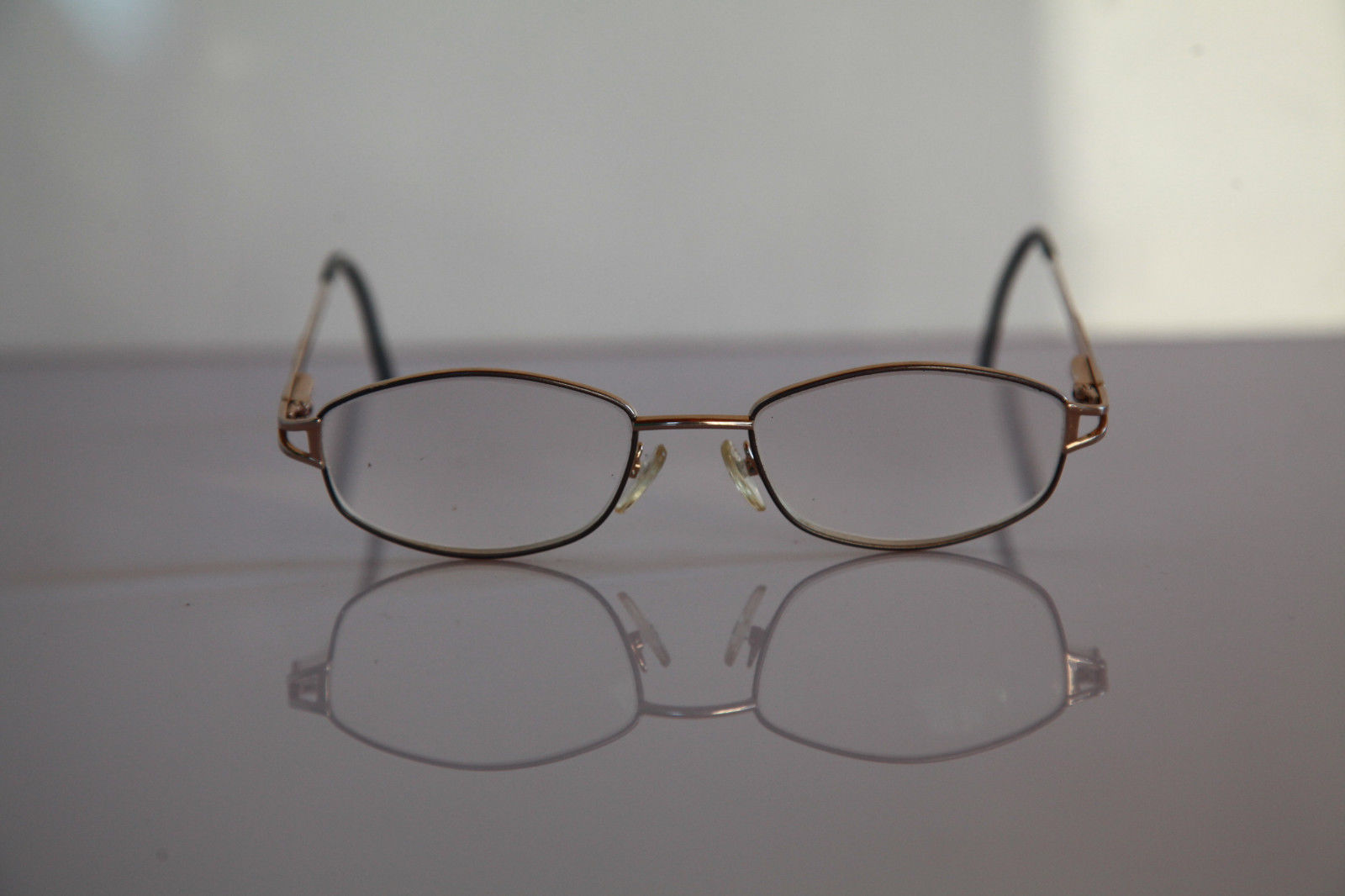 AMA L'ART Eyewear, Gold Frame, Crystal RX-Able Prescription lenses. USA