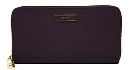 DKNY Saffiano Leather Large Zip Around Wallet; Bordeaux - $126.22