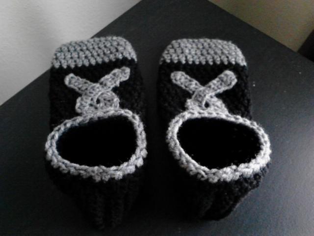 Brain Cancer Awareness Footies/Socks (Black & Grey)