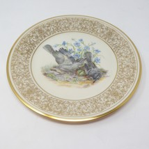Lenox Boehm Gold Plate Bird 1978 Plate Mockingbirds - $12.82