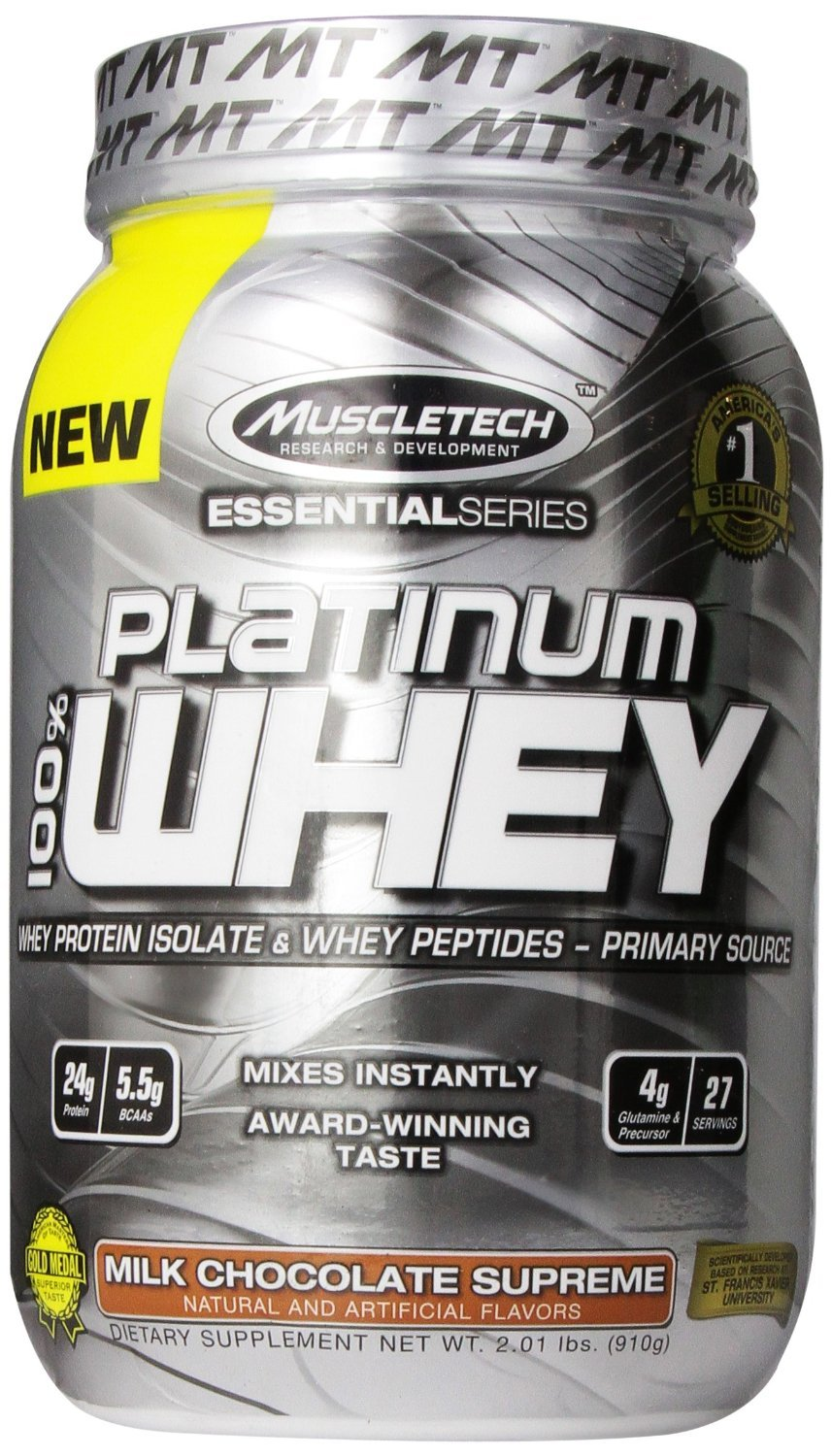 Primary image for MuscleTech Essential Platinum 100% Whey, 2 lb Milk Chocolate Supreme
